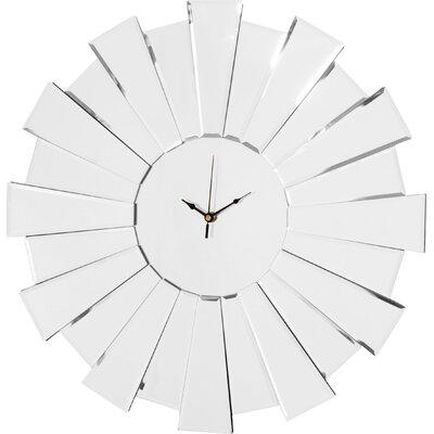 Innova 55cm Sunburst Mirror Wall Clock