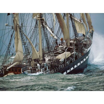 Innova Coastal Views Belem Tall Ship by Philip Plisson Photographic Tempered Glass Art