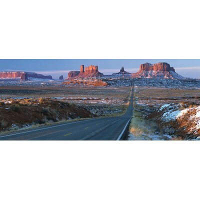 Innova Landscapes USA US 163 through Monument Valley by Alain Thomas Tempered Glass Photographic Print