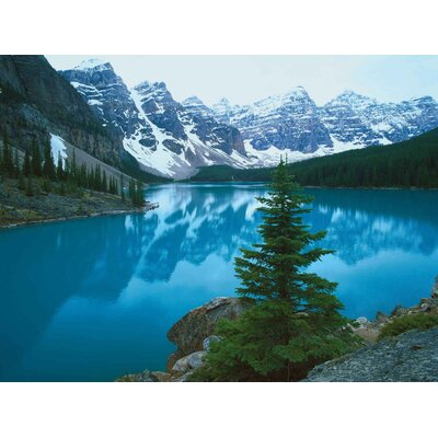 Innova Landscapes USA Moraine Lake Banff Alberta by Alain Thomas Tempered Glass Photographic Print