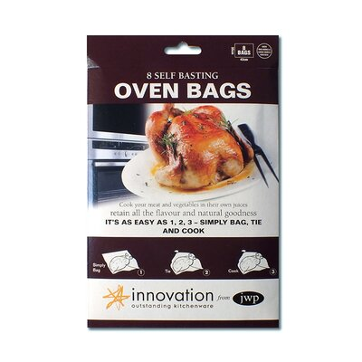 Innovation by JWP 47cm Polyester Self Basting Oven Bag in Clear