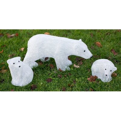 Derry's 3 Piece Christmas Polar Bear Family Set