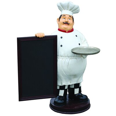 Derry's Nostalgia Chef with Sign Statue