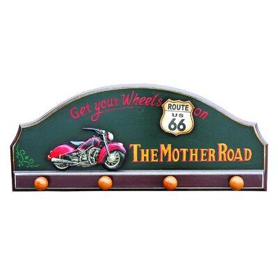 Derry's Nostalgia Harley Wall Mounted Coat Rack