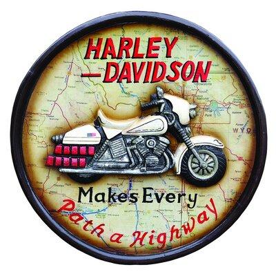 Derry's Nostalgia Harley Framed Vintage Advertisement