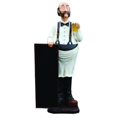 Derry's Nostalgia Waiter and Beer Sign Statue