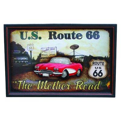 Derry's Nostalgia Mother Road Framed Vintage Advertisement
