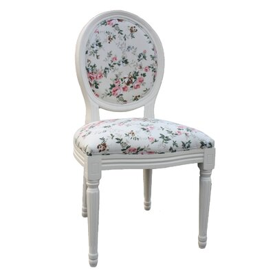 Derry's Louis Round Back Floral Dining Chair