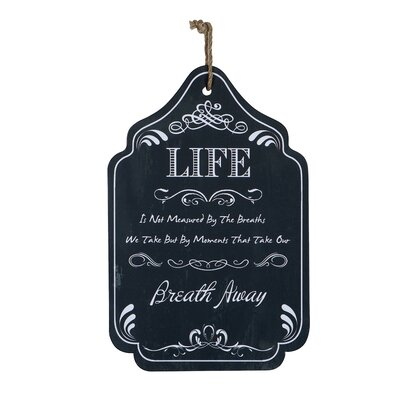 Derry's Life Wooden Wall Plaque