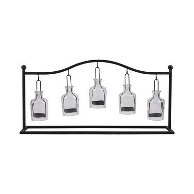 Derry's Metal And Glass 5 Tealight Holder
