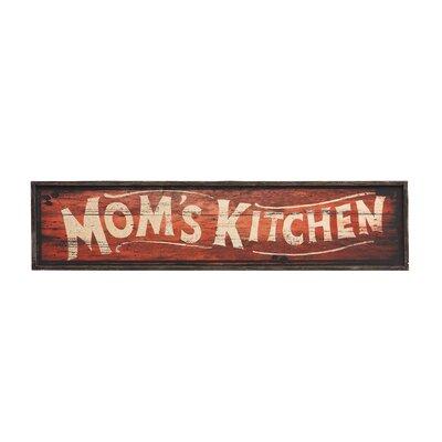Derry's Moms Kitchen Typography Plaque