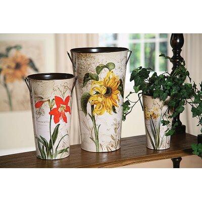 Derry's 3 Piece French Flower Buckets Vase Set