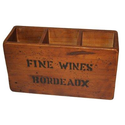 Derry's 3 Bottle Tabletop Wine Rack