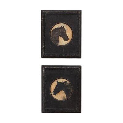 Derry's Horse Head 2 Piece Framed Art Print Set