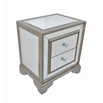 Derry's Sofia 2 Drawer Bedside Table
