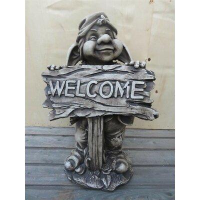 Derry's Welcome Garden Gnome Statue