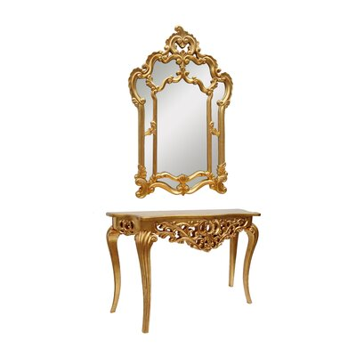 Derry's Console Table and Mirror Set