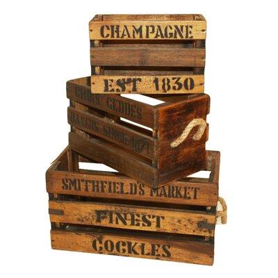 Derry's 3 Piece Wooden Crate Set