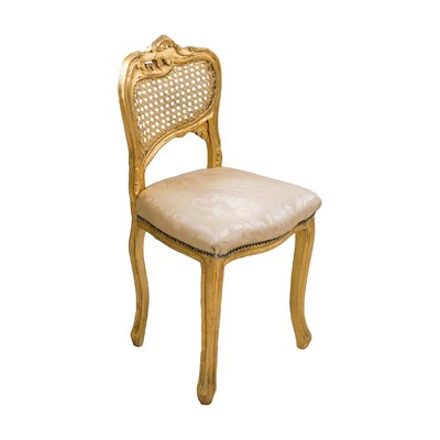 Derry's Gilt Upholstered Dining Chair