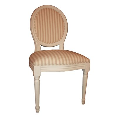 Derry's Louis Round Back Striped Dining Chair