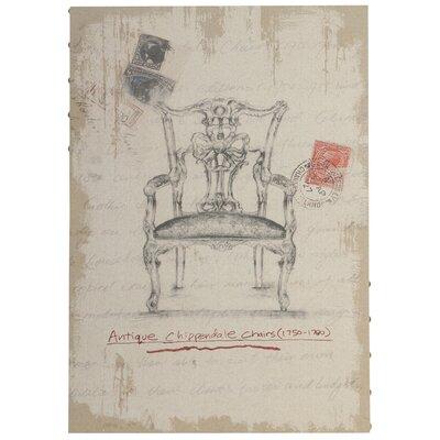 Derry's Antique Chippendale Chair Art Print on Canvas