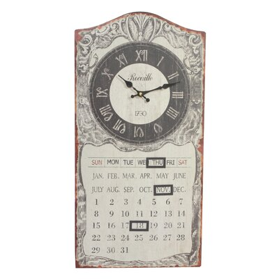 Derry's Analog Wall Clock with Calendar