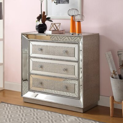 Derry's Sofia 3 Drawer Chest of Drawers