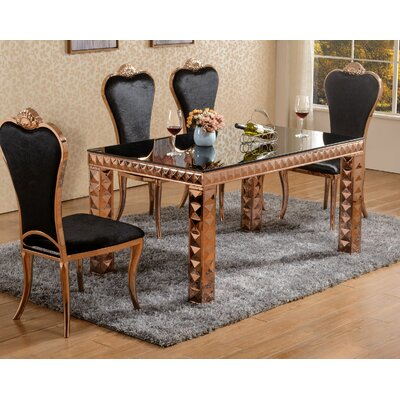 Derry's Diamond Dining Table and 6 Chairs