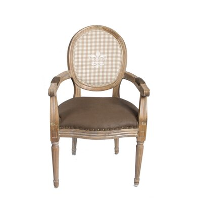 Derry's Louis Round Back Chequered Carver Dining Chair