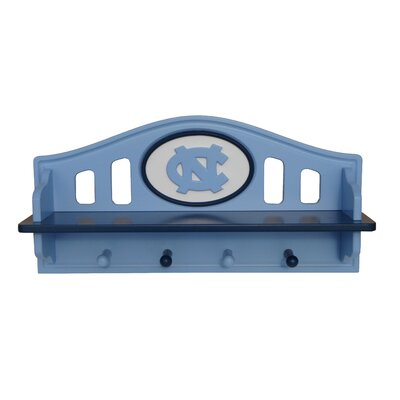 NCAA Coat Rack with Shelf NCAA Team: North Carolina
