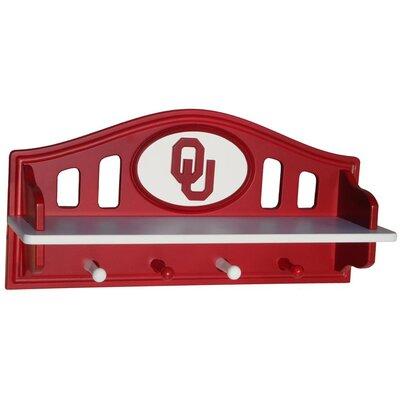 NCAA Coat Rack with Shelf NCAA Team: Oklahoma