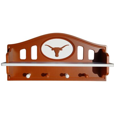 NCAA Coat Rack with Shelf NCAA Team: Texas