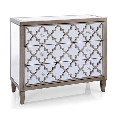 Apsley Mirrored 3 Drawer Accent Chest