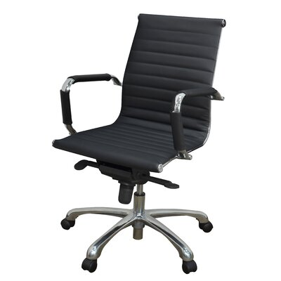 Solace Mid-Back Faux Leather Desk Chair