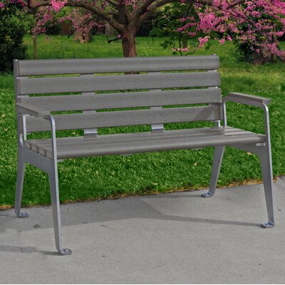 Plaza Bench Color: Gray
