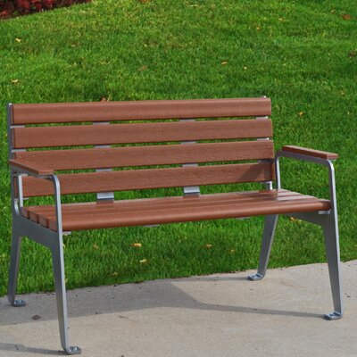 Plaza Bench Color: Redwood