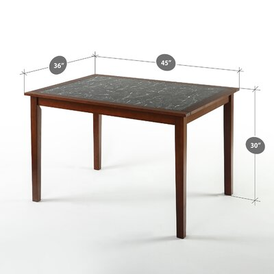 Segura Faux Marble and Wood Dining Table