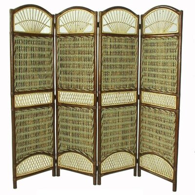 Seagrass 4 Panel Room Divider