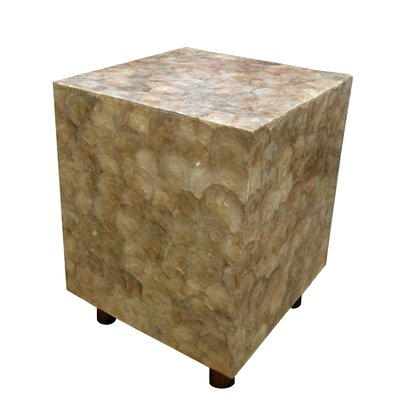 Capiz Shell Square Stool