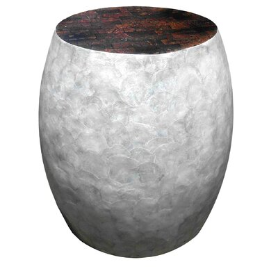 Capiz Sea Crest Shell Stool