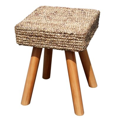 Island Woven Square Accent Stool