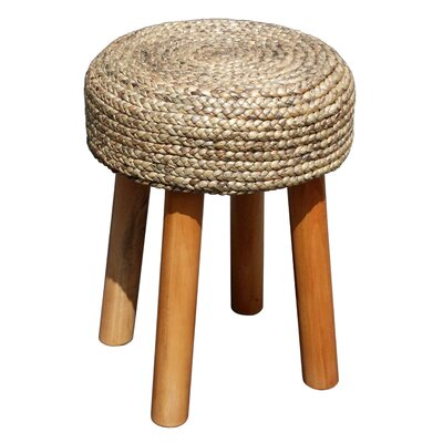 Island Woven Round Accent Stool