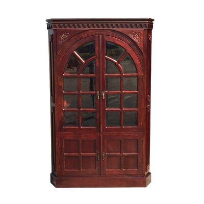 Alim Victorian Corner Glass Accent Cabinet