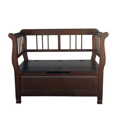 Alim Lift Trunk Love Seat Wood Storage Bench