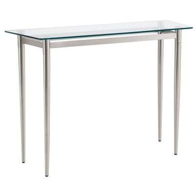 Ravenna Console Table Color: Brushed Steel