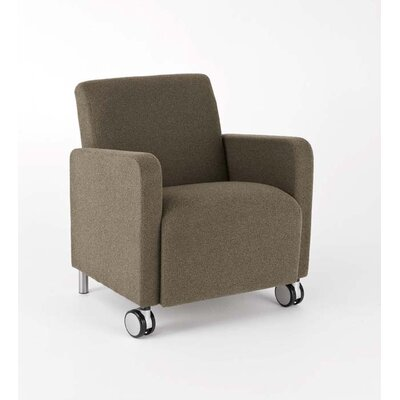 Ravenna Guest Chair Upholstery: Axis Noir - Designer Fabric, Casters/Glides: With Casters