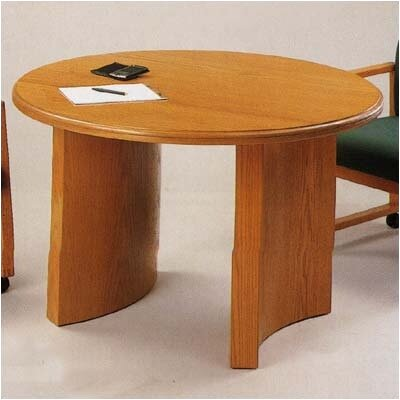 "Contemporary Series Circular Conference Table Finish: Black, Profile: Bullnose, Size: 3' 6"" L"