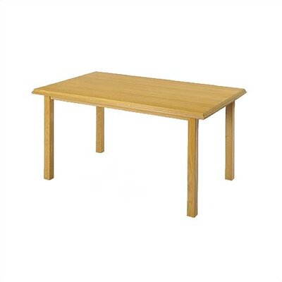 Contemporary Rectangular Conference Table Finish: Natural, Profile: Bevel, Size: 4' L