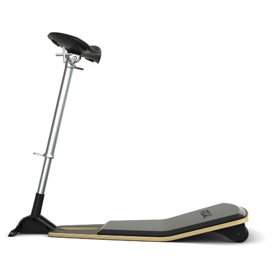 Locus Height Adjustable Industrial Stool Color: Matte Black, Upholstery: Nubuck