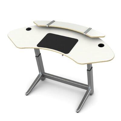 Sphere U-Shape Standing Desk Color: Glacier White
